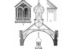Арх. детали и констр. покрытия церкви на 350 чел.