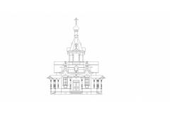 Реконструкция западного фасада