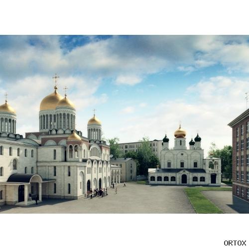 Вид монастырского двора